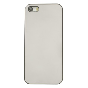 Protective PC Hard Case w/ Silver Aluminum Sheet for iPhone 5s 5 - Solid Color