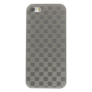 Protective PC Hard Shell w/ Silver Aluminum Sheet for iPhone 5s 5 - Check Pattern