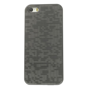 Protective PC Back Shell w/ Silver Aluminum Sheet for iPhone 5s 5 - Small Grid Pattern