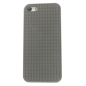 Protective PC Back Cover w/ Silver Aluminum Sheet for iPhone 5s 5 - Small Rectangle Pattern