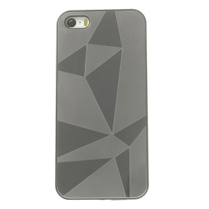 Protective Back Plastic Case w/ Silver Aluminum Sheet for iPhone 5s 5 - Water Cube Pattern