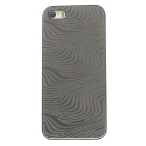 Back Plastic Shell Cover w/ Silver Aluminum Sheet for iPhone 5s 5 - Zebra Stripe Pattern