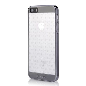 Mooke 0.79mm Electroplating PC Shell Case for iPhone 5s 5 - Black Star
