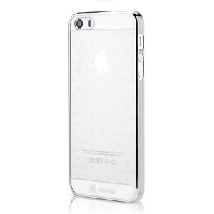 Mooke for iPhone 5s 5 0.79mm Electroplating Hard PC Case - Silver Star