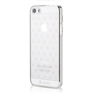 Mooke for iPhone 5s 5 0.79mm Electroplating Hard Cover - Silver Eyeglass