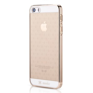 Mooke for iPhone 5s 5 0.79mm Plating Hard Cover - Champagne Gold Star