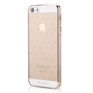 Mooke for iPhone 5s 5 0.79mm Plating PC Shell - Champagne Gold Eyeglass