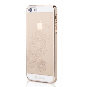 Mooke 0.79mm Plating PC Shell for iPhone 5s 5 - Champagne Gold Dandelion