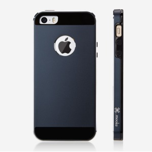 Mooke Aluminum Magnesium + Silicone Hybrid Case for iPhone 5s 5 - Black