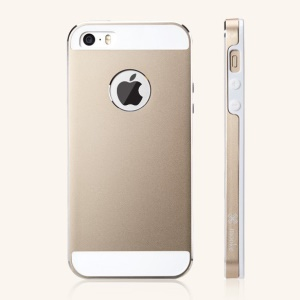 Mooke Aluminum Magnesium + Silicone Case for iPhone 5s 5 - Champagne Gold