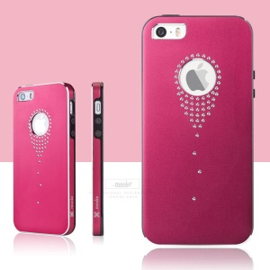 Mooke for iPhone 5s 5 Aluminum Alloy + PC Stylish Cover - Red