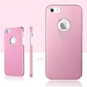 Mooke for iPhone 5s 5 Aluminum Alloy + PC Stylish Shell - Pink