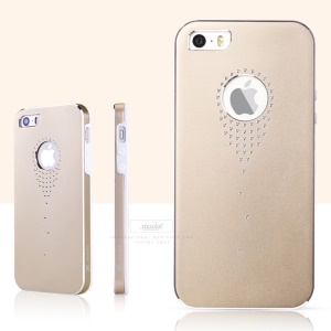 Mooke for iPhone 5s 5 Aluminum Alloy + PC Stylish Case - Gold