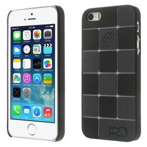 Check Pattern Slim PC Hard Case for iPhone 5s 5 - Black