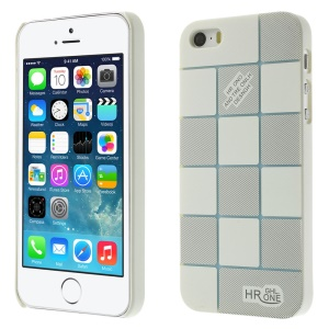 Check Pattern Slim PC Hard Shell for iPhone 5s 5 - White