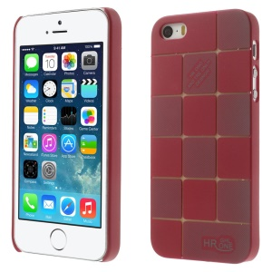 Check Pattern Slim PC Hard Cover for iPhone 5s 5 - Red