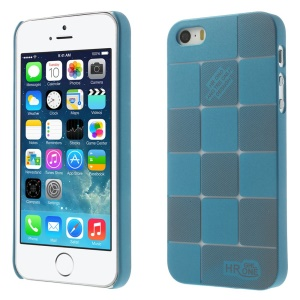 Check Pattern Slim PC Back Case for iPhone 5s 5 - Blue