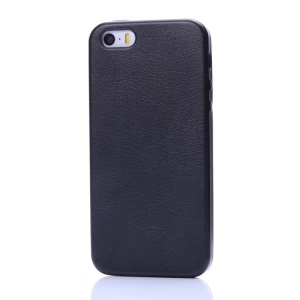 K-cool Litchi Texture PU Leather Hard Case for iPhone 5s 5 - Black
