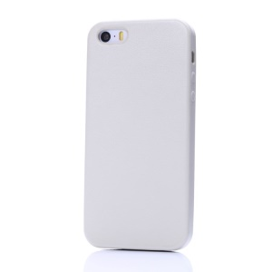 K-cool Litchi Texture PU Leather Hard Cover for iPhone 5s 5 - White