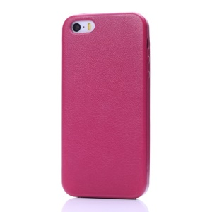 K-cool Litchi Texture PU Leather Back Case for iPhone 5s 5 - Rose
