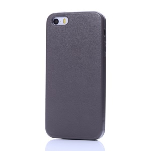 K-cool Litchi Texture Protective PU Leather Case for iPhone 5s 5 - Coffee