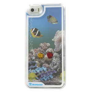 Sanlead Dynamic Undersea World Swimming Fish Hard Plastic Case for iPhone 5s 5 - Transparent