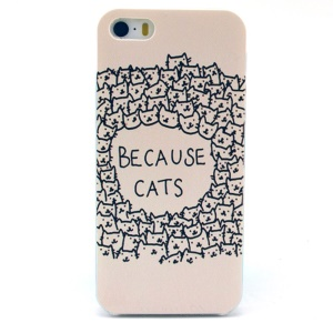Quote Because Cats Hard Plastic Case for iPhone 5s 5