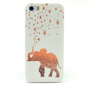 Stars & Elephant Hard Plastic Cover for iPhone 5s 5