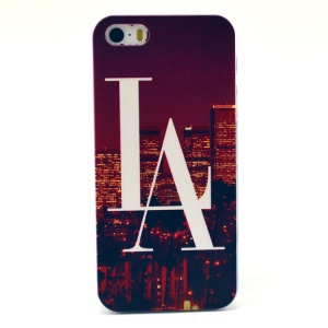 LA City Pattern Plastic Back Cover for iPhone 5s 5