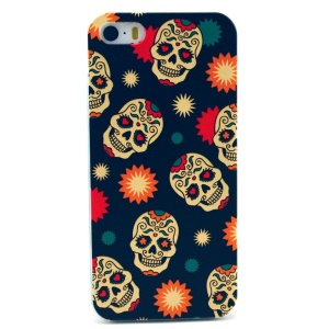 Sugar Skull Pattern Plastic Back Cover for iPhone 5s 5