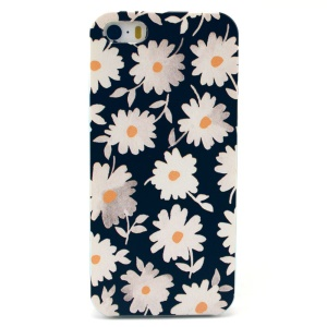 Daisy Pattern Plastic Back Case Shell for iPhone 5s 5