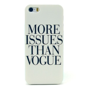 MORE ISSUES THAN VOGUE Plastic Back Cover Shell for iPhone 5s 5