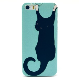 Climbing Black Cat Plastic Protective Shell for iPhone 5s 5