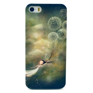 Dandelion & Girl Plastic Protective Cover for iPhone 5s 5