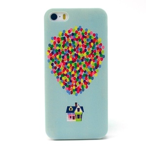Colorful Dots & House Plastic Protective Shell for iPhone 5s 5
