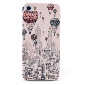 Hot Balloon & High Buildings Plastic Cover for iPhone 5s 5