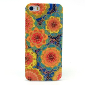 Colorful Flowers Plastic Case for iPhone 5s 5