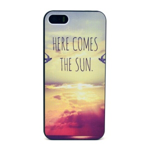 Here Comes The Sun Pattern Plastic Hard Case for iPhone 5s 5