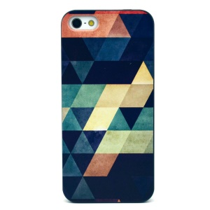 Colorful Triangles Plastic Case Shell for iPhone 5s 5