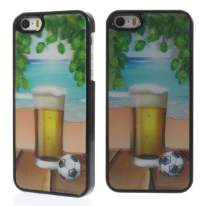 Cool 3D Effect Beer and Football PC Hard Back Case for iPhone 5s 5