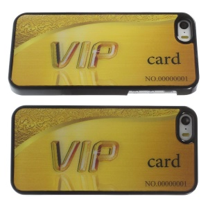 3D Effect Gold VIP Card PC Hard Skin Case for iPhone 5s 5