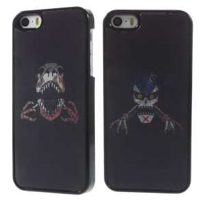 3D Effect Dynamic Crazy Skull Hard Phone Cover for iPhone 5s 5