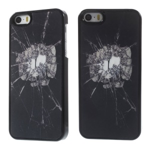 For iPhone 5s 5 Dynamic 3D Effect Break the Glass with One Punch Hard PC Case