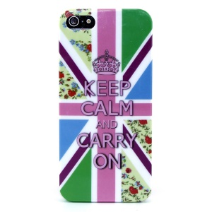 KEEP CALM AND CARRY ON IMD Glossy Hard Plastic Case for iPhone 5s 5
