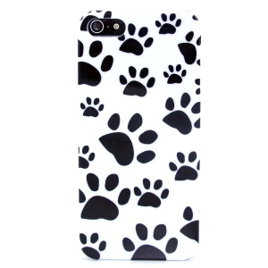 Paw Prints IMD Glossy Hard Plastic Cover for iPhone 5s 5