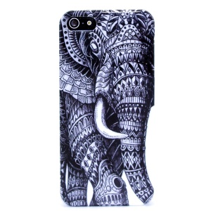 Elephant Pattern IMD Glossy Hard Plastic Cover for iPhone 5s 5