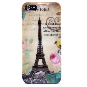 Eiffel Tower IMD Glossy Plastic Phone Shell for iPhone 5s 5