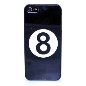Number Eight in Circle IMD Glossy Plastic Phone Shell for iPhone 5s 5