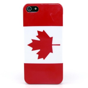 Canada National Flag IMD Glossy Plastic Phone Case for iPhone 5s 5