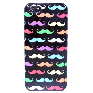 Colorful Mustache IMD Glossy Plastic Phone Case for iPhone 5s 5
